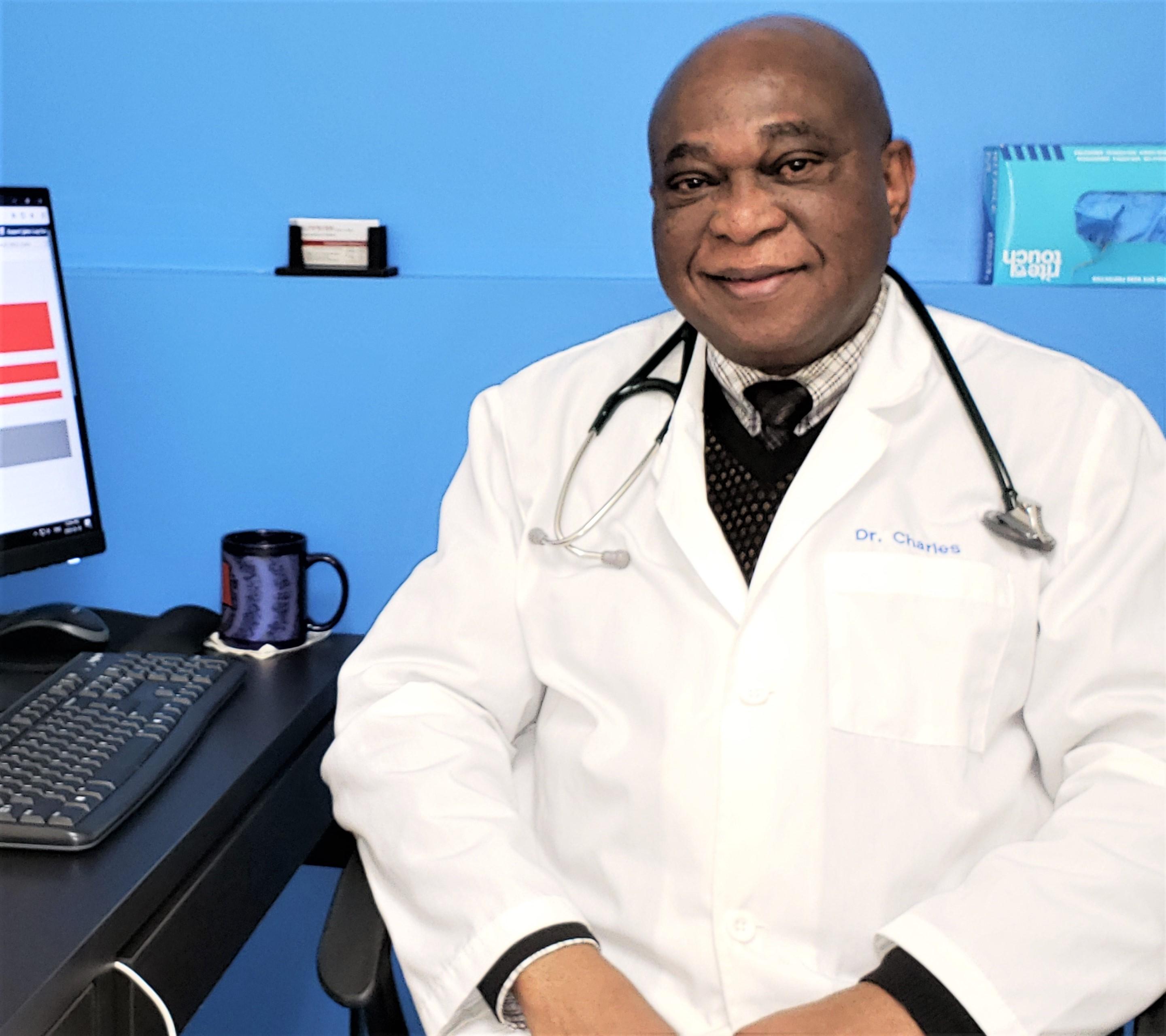 Dr. Charles Osime, MBBS, DA, LMCC, MCFP. CPSO: 116820